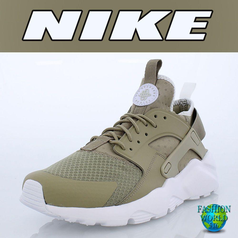 Nike Men's Size 13 Air Huarache Run Ultra Khaki/Pale Grey ...