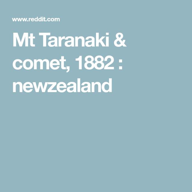 Mt Taranaki & comet, 1882 : newzealand
