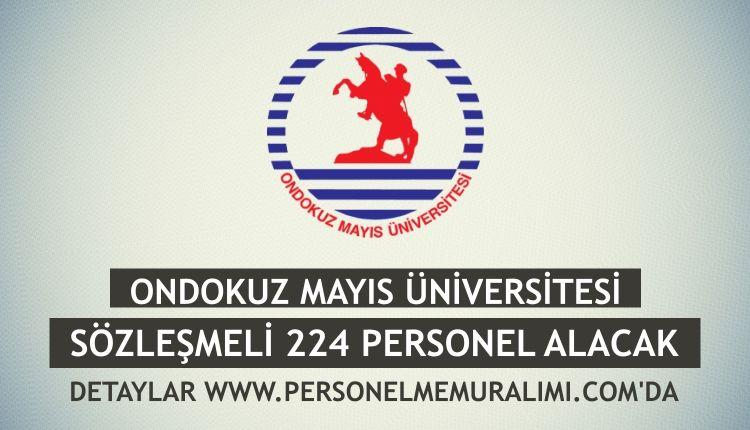 Ondokuz Mayis Universitesi Sozlesmeli 224 Personel Alimi Ilani Memur Personel Alimlari