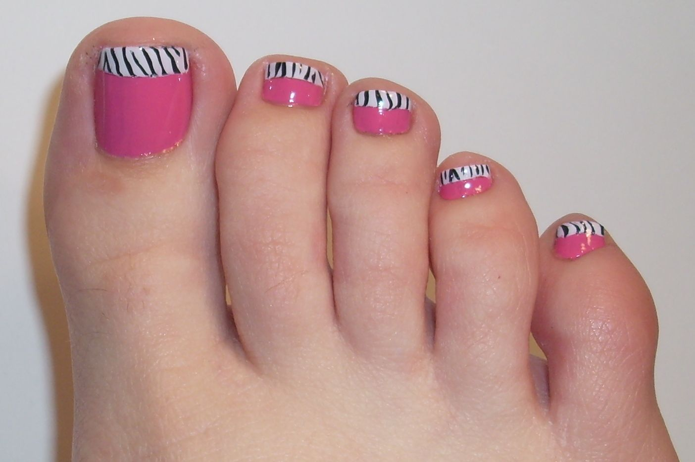 Toes =) | Nail Design | Pinterest | Polished toes, Pink zebra nails ...