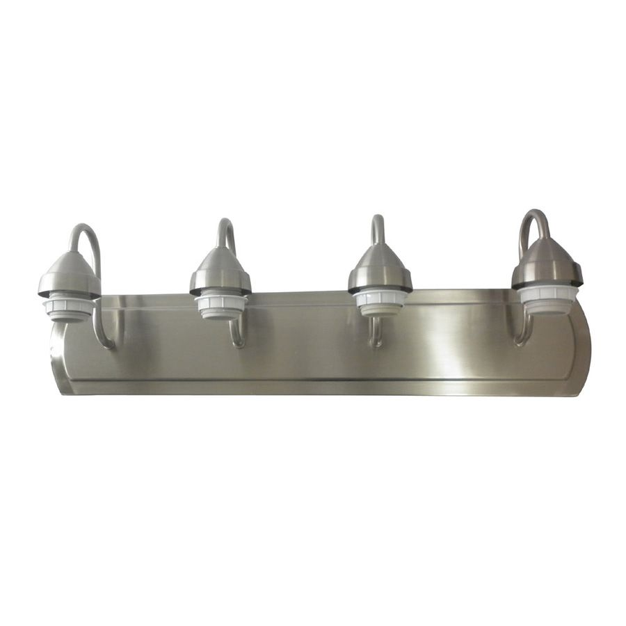40 Portfolio 4 Light Brushed Nickel Vanity Light Bar 24 X 6