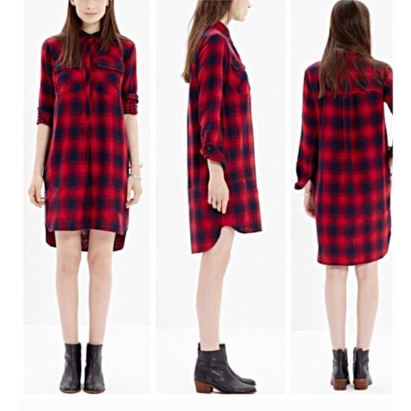 Madewell Plaid Daywalk Dress Madewell check dress, with pockets. This dress is so cute it was just to small for me. In excellent condition. Madewell Dresses