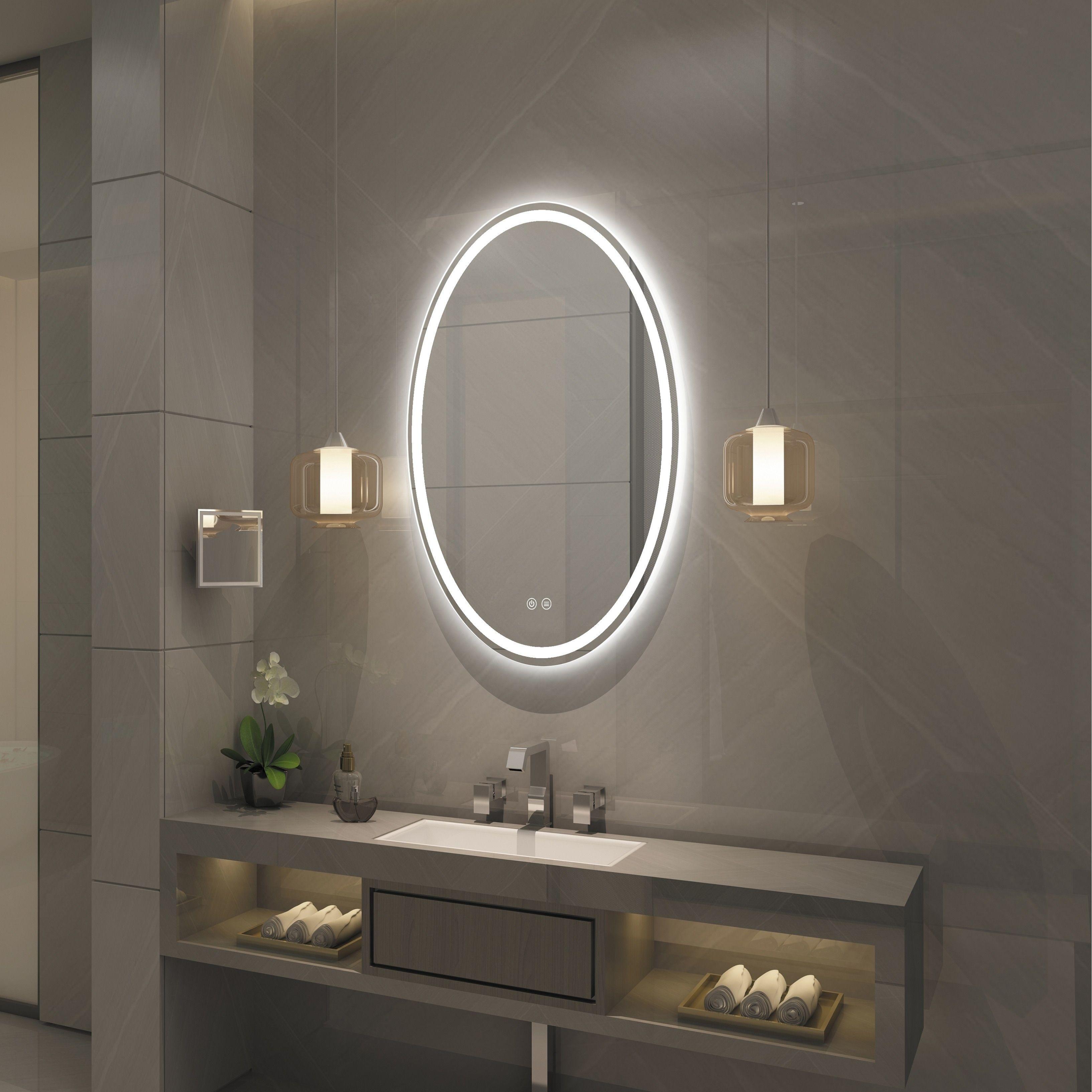 Frameless Wall Mounted Led Bathroom Mirror White Led Mirror Bathroom Led Mirror Bathroom Mirror [ 3267 x 3267 Pixel ]