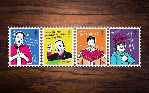 Portfolio: #IndyRef Stamps : Mike Kus • Graphics • Web • Branding • Illustration • Photography