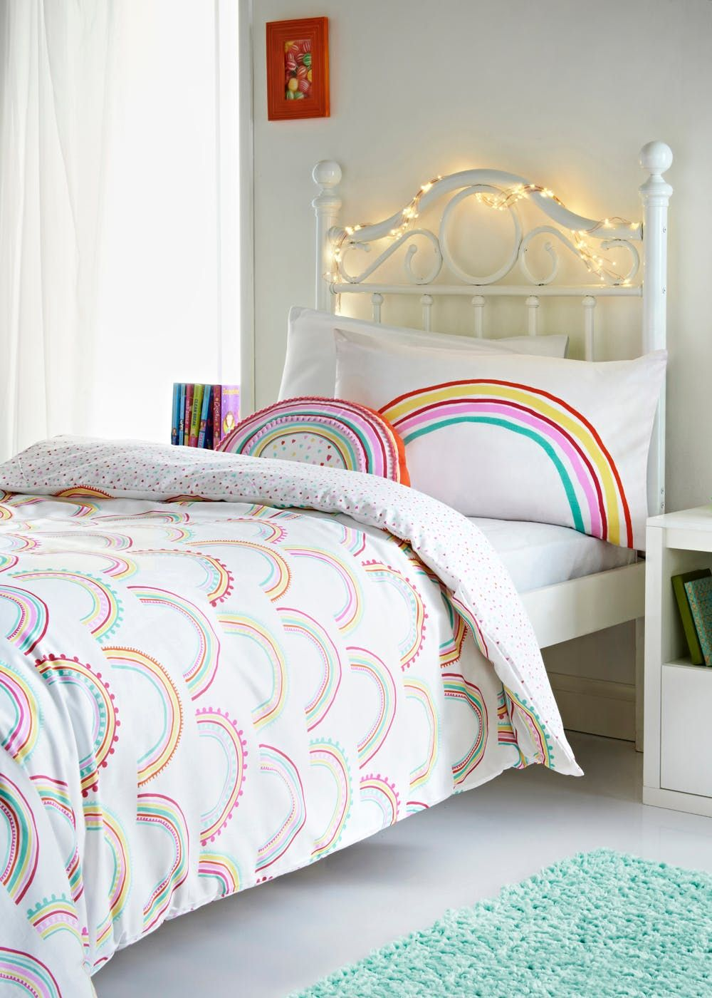 Gentil Kids 100% Cotton Rainbow Duvet Cover (Single)