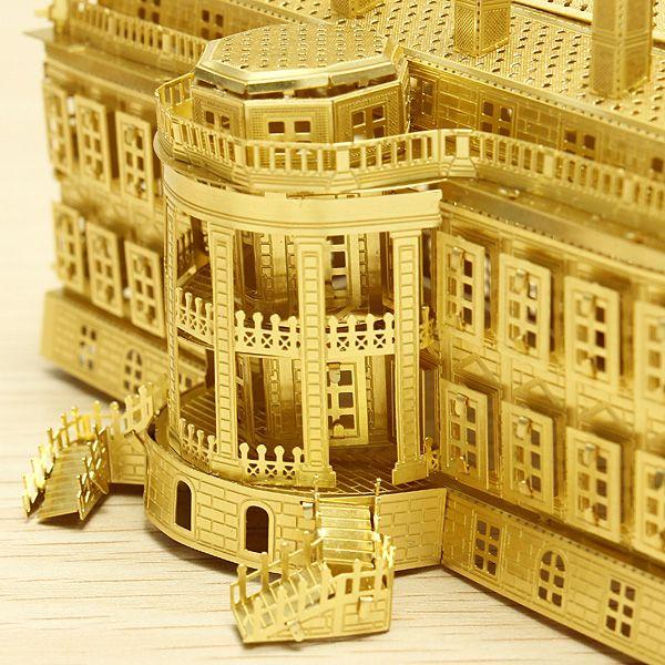 Cut Láser Piececool La Casa Blanca DIY 3D Modelos Puzzle
