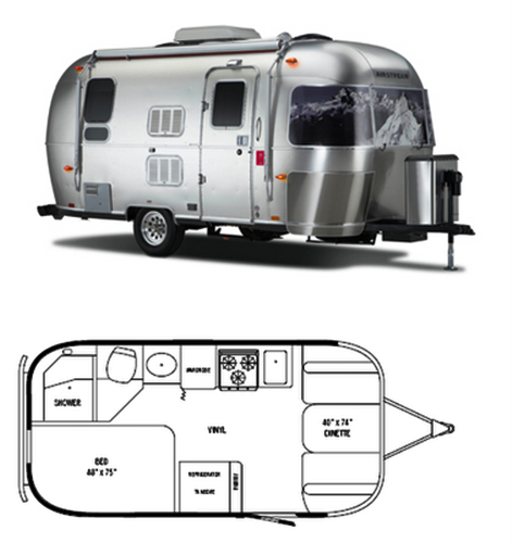 The Vintage Airstream Small Travel Trailer Floor Plan