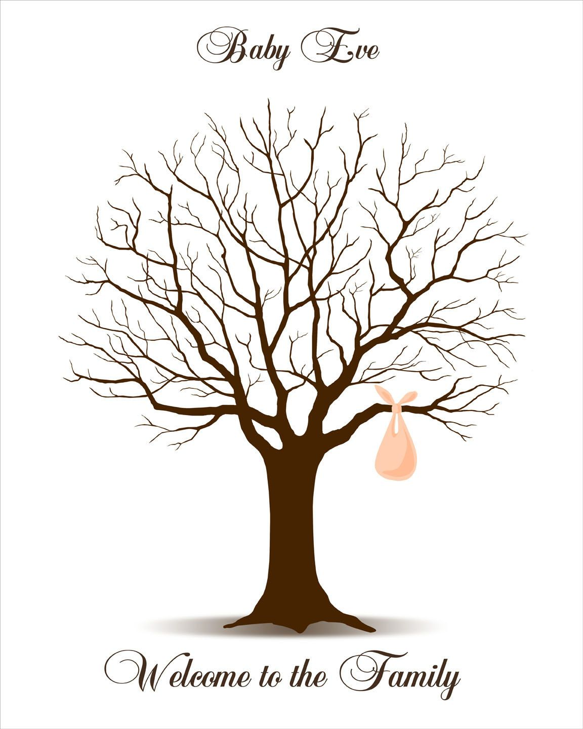 baby shower guest book fingerprint tree baby shower guestbook thumbprint signature tree with