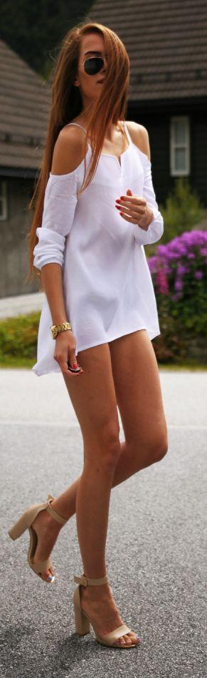 Kristine Ullebo White Little Dress. Adriana's fashion pins