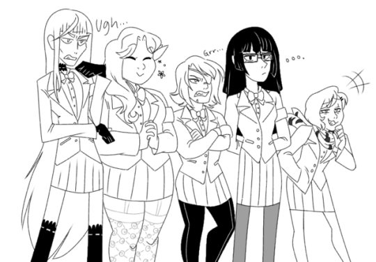 """shibedere-sim: """" Student council! Now everyone line up for"""