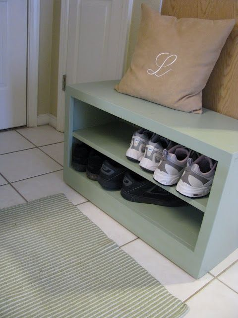 Building a Shoe Storage Bench | For the home | Pinterest