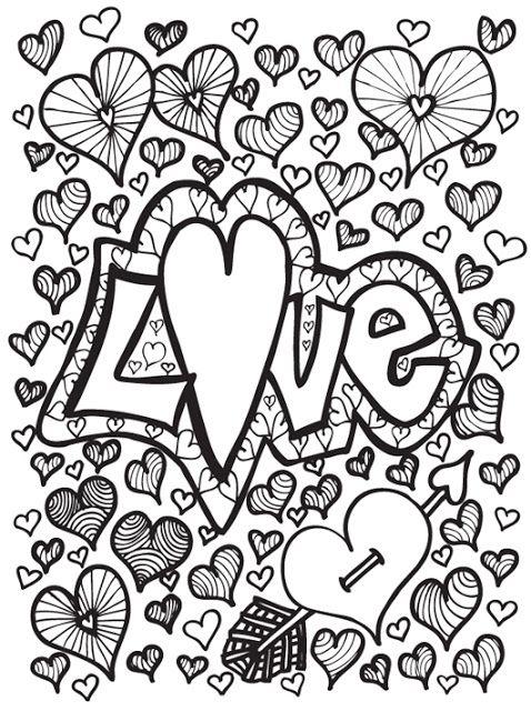 coloriage amour | coloriage | Pinterest | Dibujos para imprimir ...