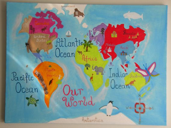 Sale world map for kids acrylic painting by magdasenso on etsy sale world map for kids acrylic painting by magdasenso on etsy 8000 gumiabroncs Image collections
