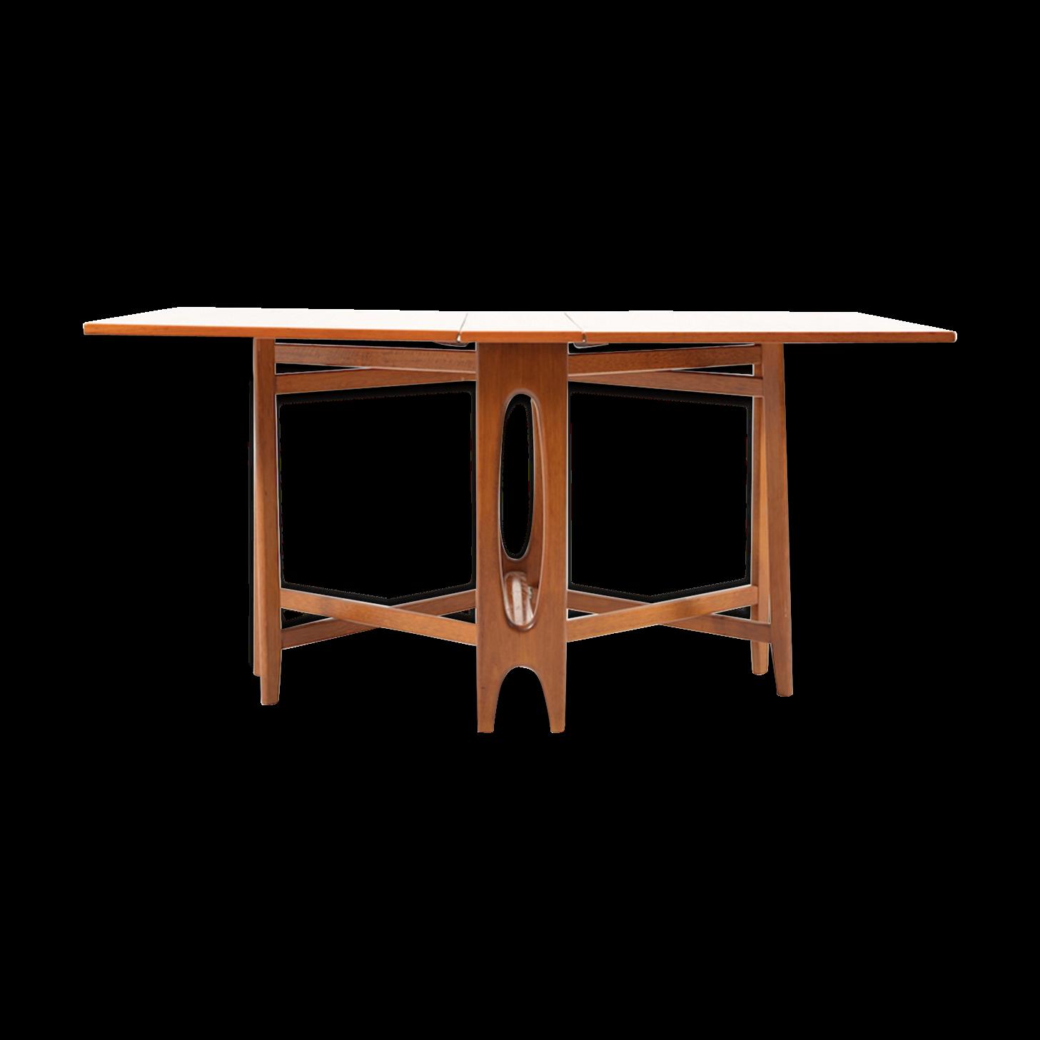 Drop Leaf Teak Dining Table By Bendt Winge Table A Manger En Teck Table Salle A Manger Et Bois