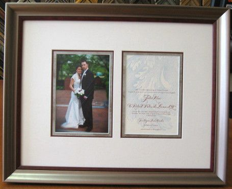 Framing the invitation is a perfect and welcome gift when done well ...