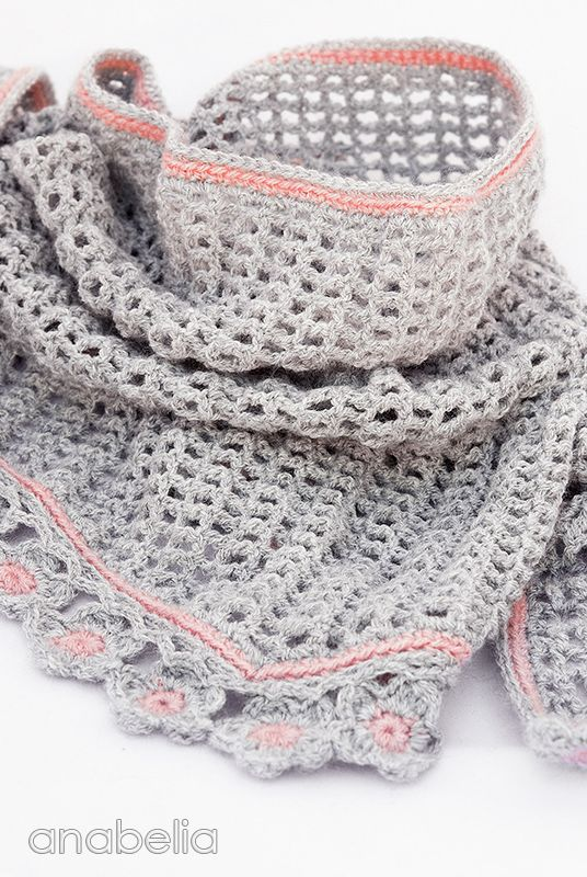 Helena crochet scarf pattern by Anabelia | Cosas que me ...