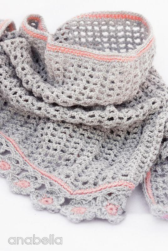 Helena crochet scarf pattern by Anabelia Tutorial╭⊰✿Teresa ...