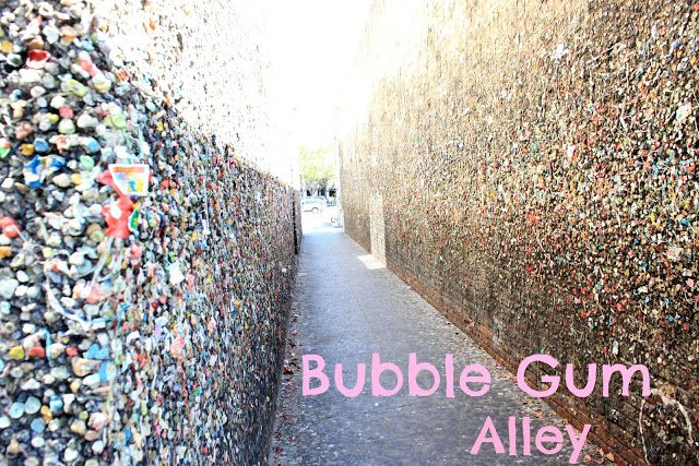 Put Gum On The Wall In The World Famous Bubble Gum Alley In San Luis
