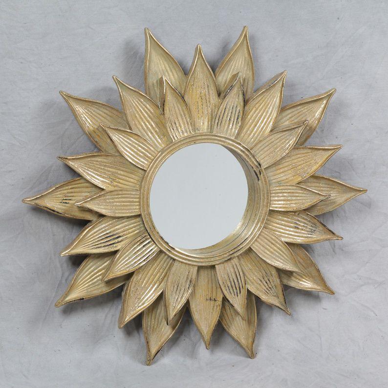antique gold sunflower wall mirror home decor pinterest