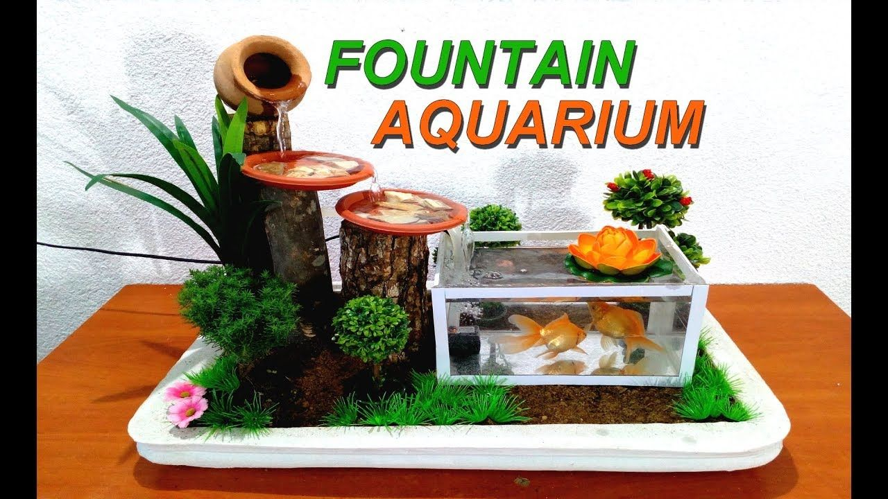 How To Make A Small Aquarium Fountain Very Easy Diy Youtube