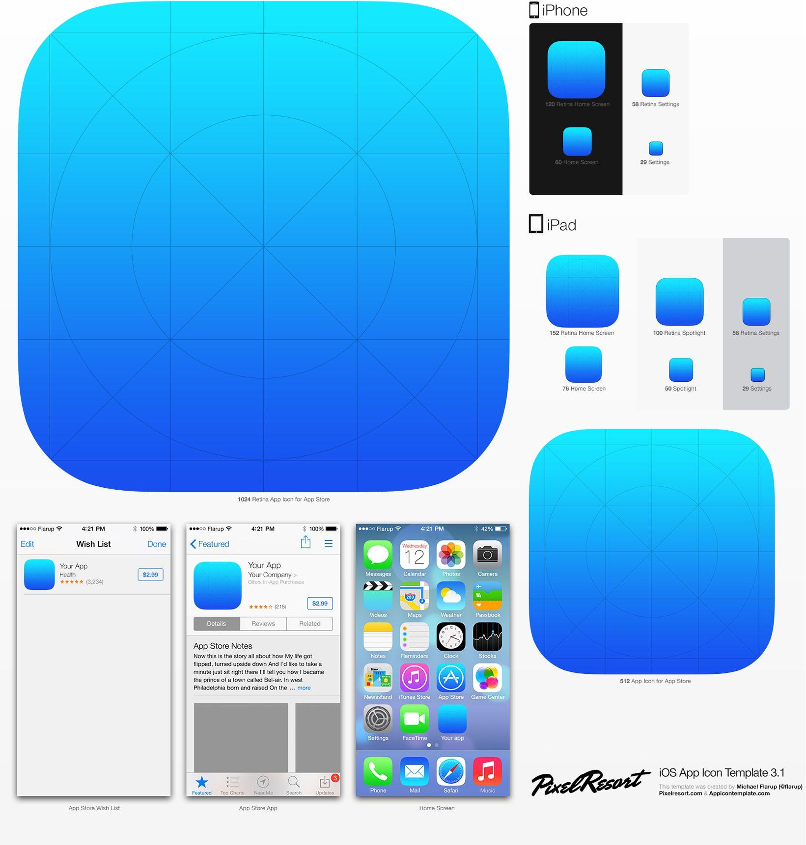 App Icon Template Ios app icon, Mobile app icon, Ios icon