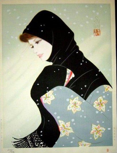 Blizzard, by Iwata Sentaro (1901-1974)