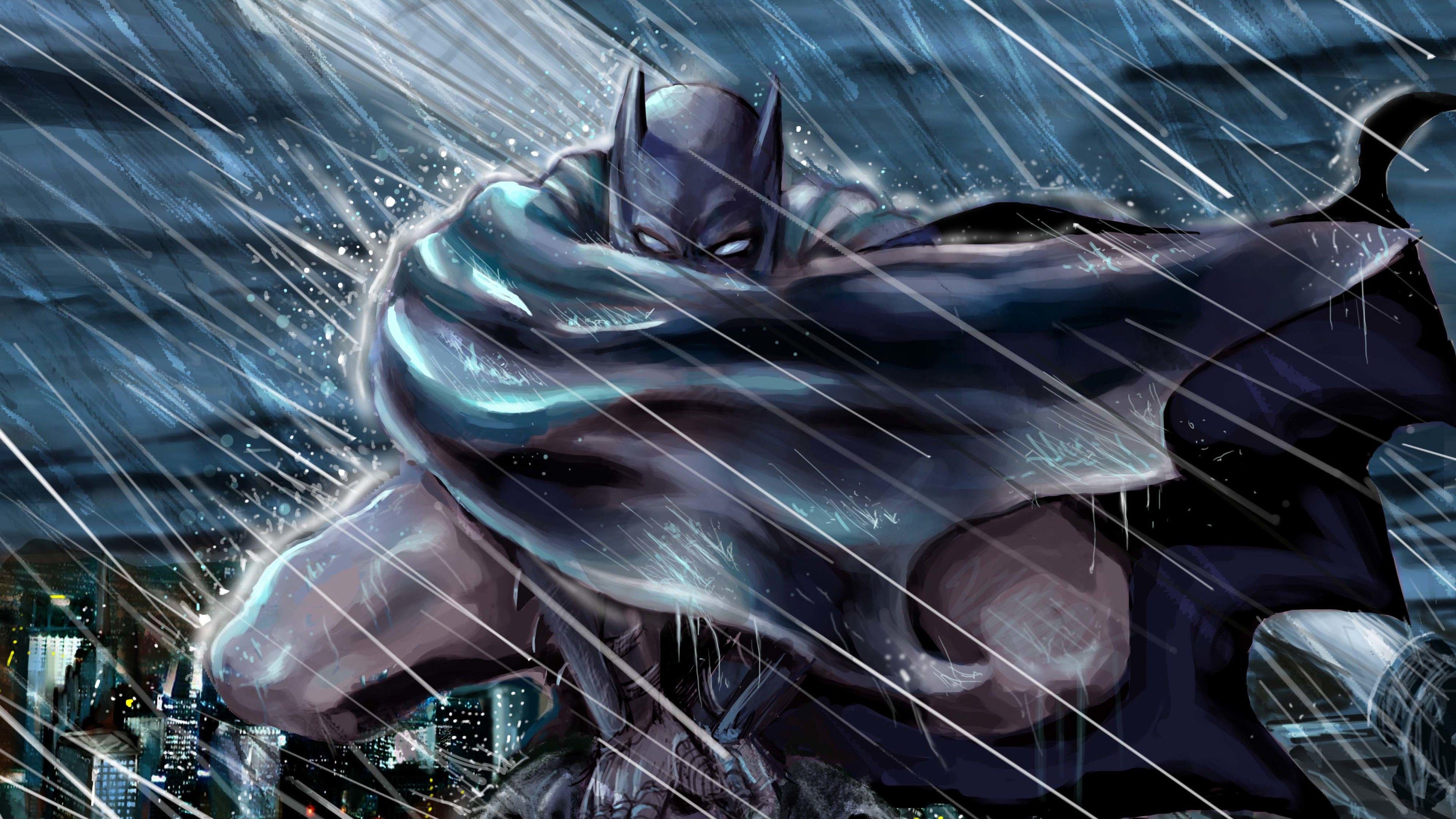 Batman Gotham Roof Top Protecter K Superheroes Wallpapers Hd Wallpapers Digital Art Wallpapers