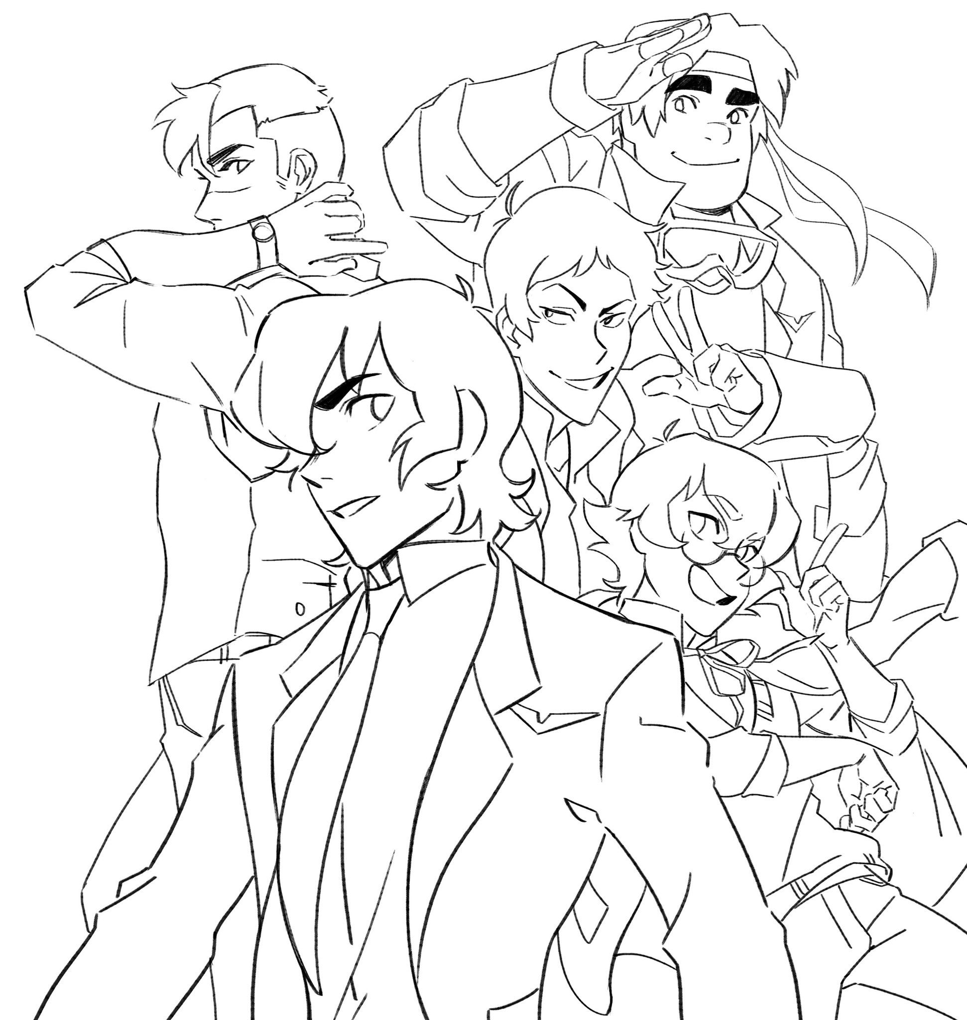 Beautiful Voltron Coloring Book Images Style And Ideas Rewordio Us