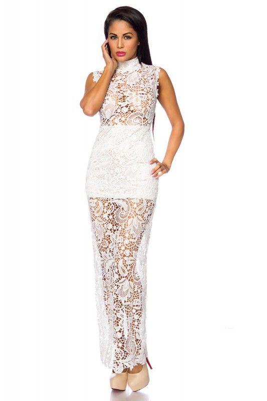 Weißes #Abendkleid mit Spitze | Sexy Abendkleider | Pinterest ...