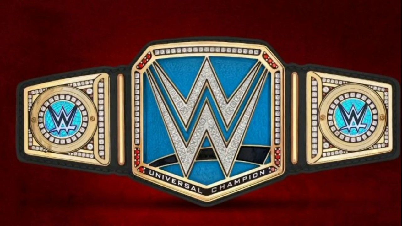 Dual plate 2mm WWE Universal Championship Title Belt Adult Size Blue