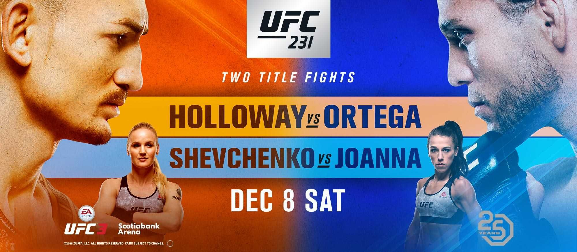 Ufc 231 Holloway Vs Ortega Ufc Ufc Live Sports Predictions