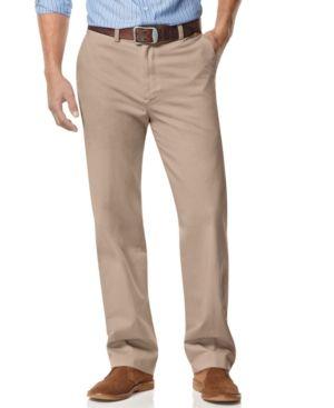 Nautica Big And Tall Men S Pants Anchor Flat Front Twill Pants Reviews Pants Men Macy S Moda Hombre Moda Hombres
