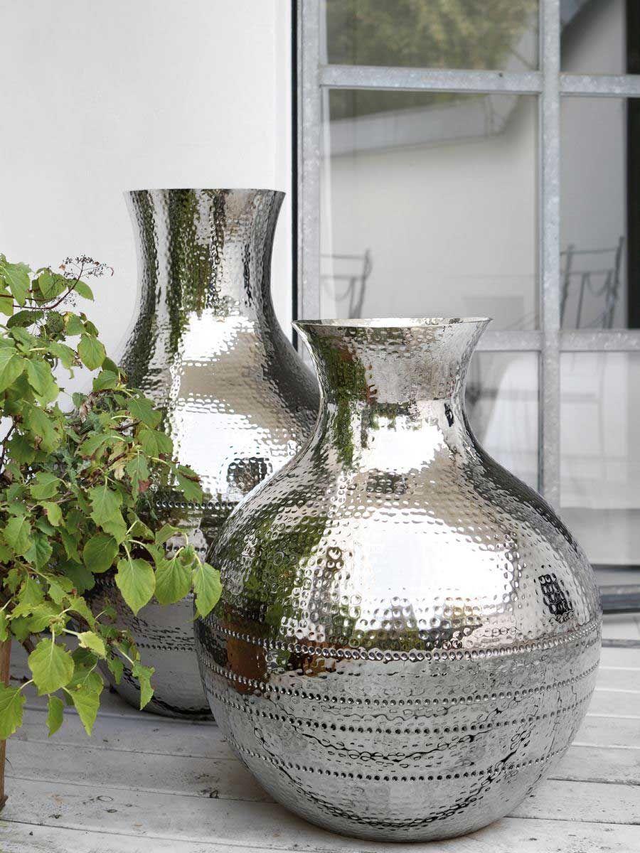 Fink Living Bodenvase Zagora gehämmert in 2 Größen | Pinterest ...