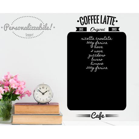 Lavagna adesiva da cucina lavagnetta wall stickers Coffee latte ...