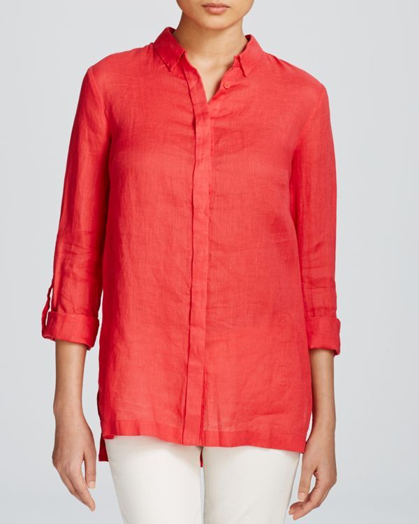 a46219d37295 Elie Tahari Carly Linen Blouse   Products