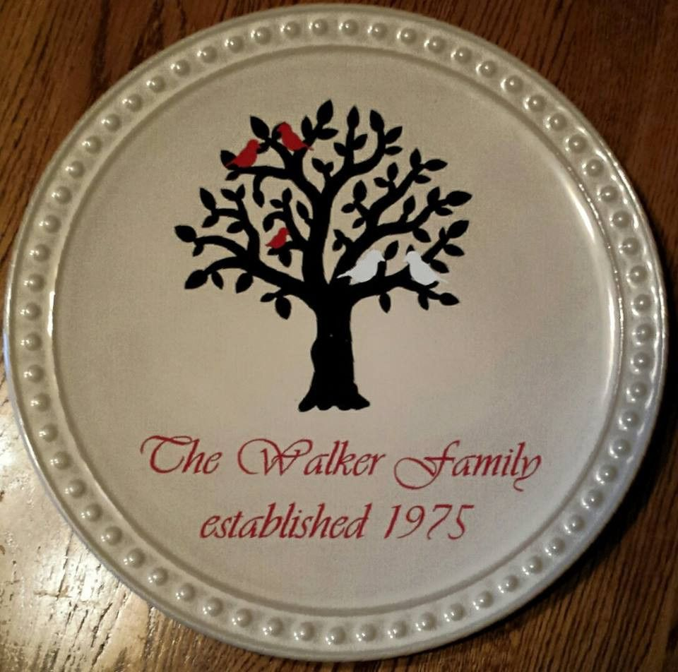 Decorative Family Plate - Kelly Belly Boo-tique