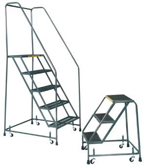 Standard Rolling Ladder Spring Loaded Casters Industrial Man Lifts Spring Loaded Casters Rolling Ladder Ladder