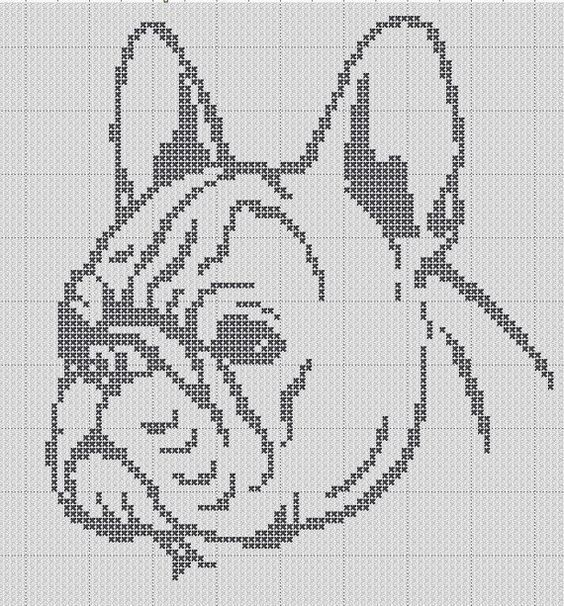 French Bulldog Silhouette Small Cross Stitch Pattern 1 Color Easy ...