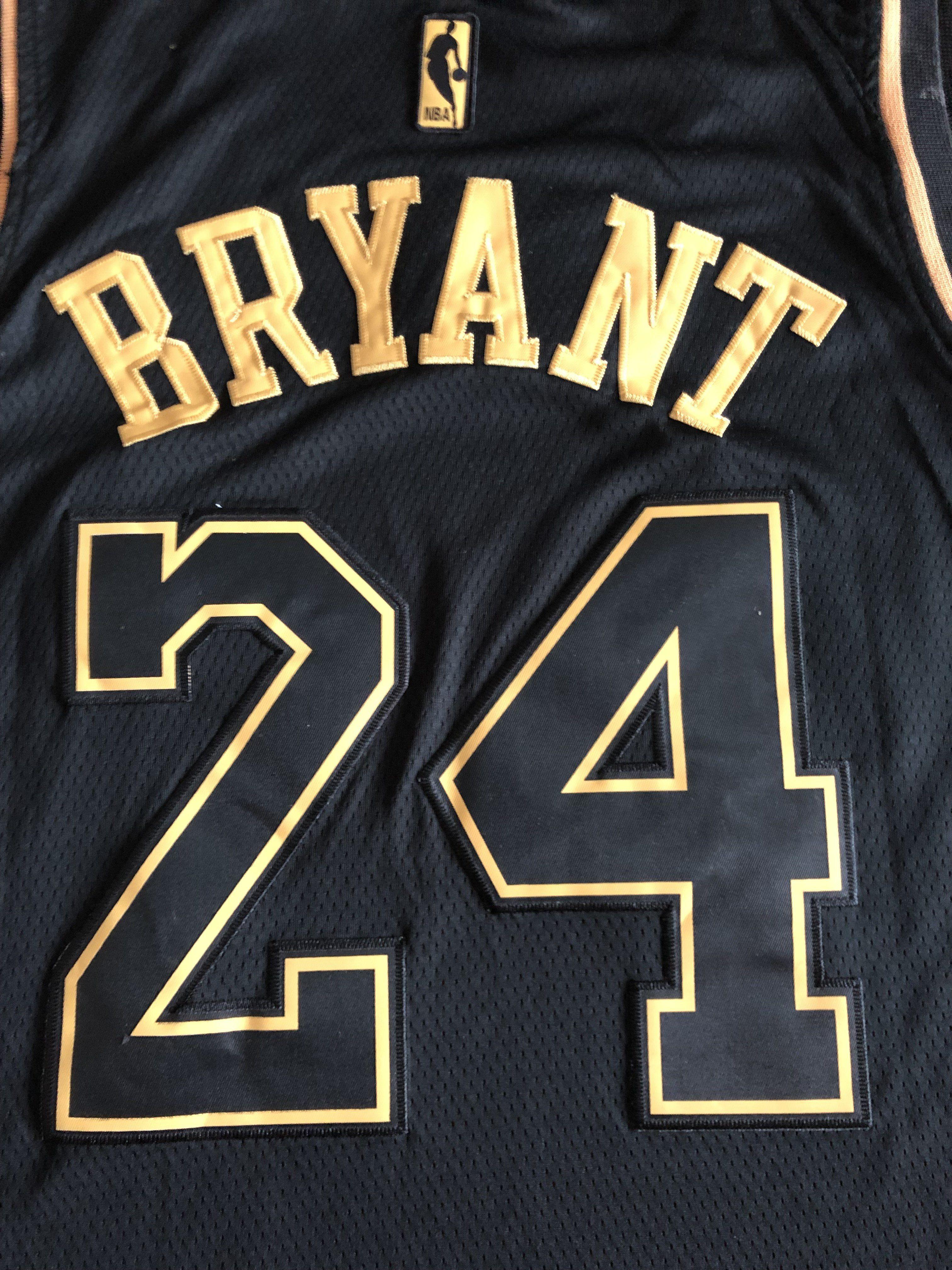 Men 24 Kobe Bryant Jersey Black Gold Los Angeles Lakers Swingman Jerse Nreball In 2020 Nba Jersey Jersey Cheap Nba Jerseys