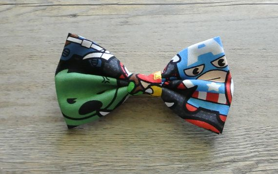 Marvel Comics Marvel Bow Marvel Hair Bow Avengers Bow by rougebox