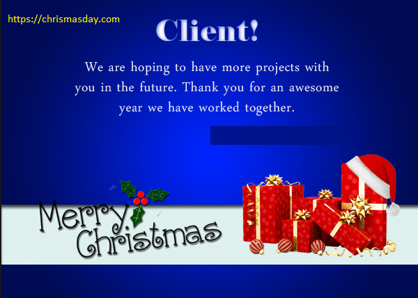 Christmas Day Wishes Quotes For Clients