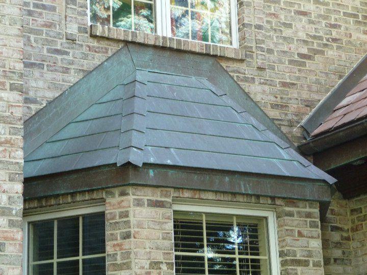 Bay Window Roof Copper Patina Green Zinc Roof Bay Window Green Roof