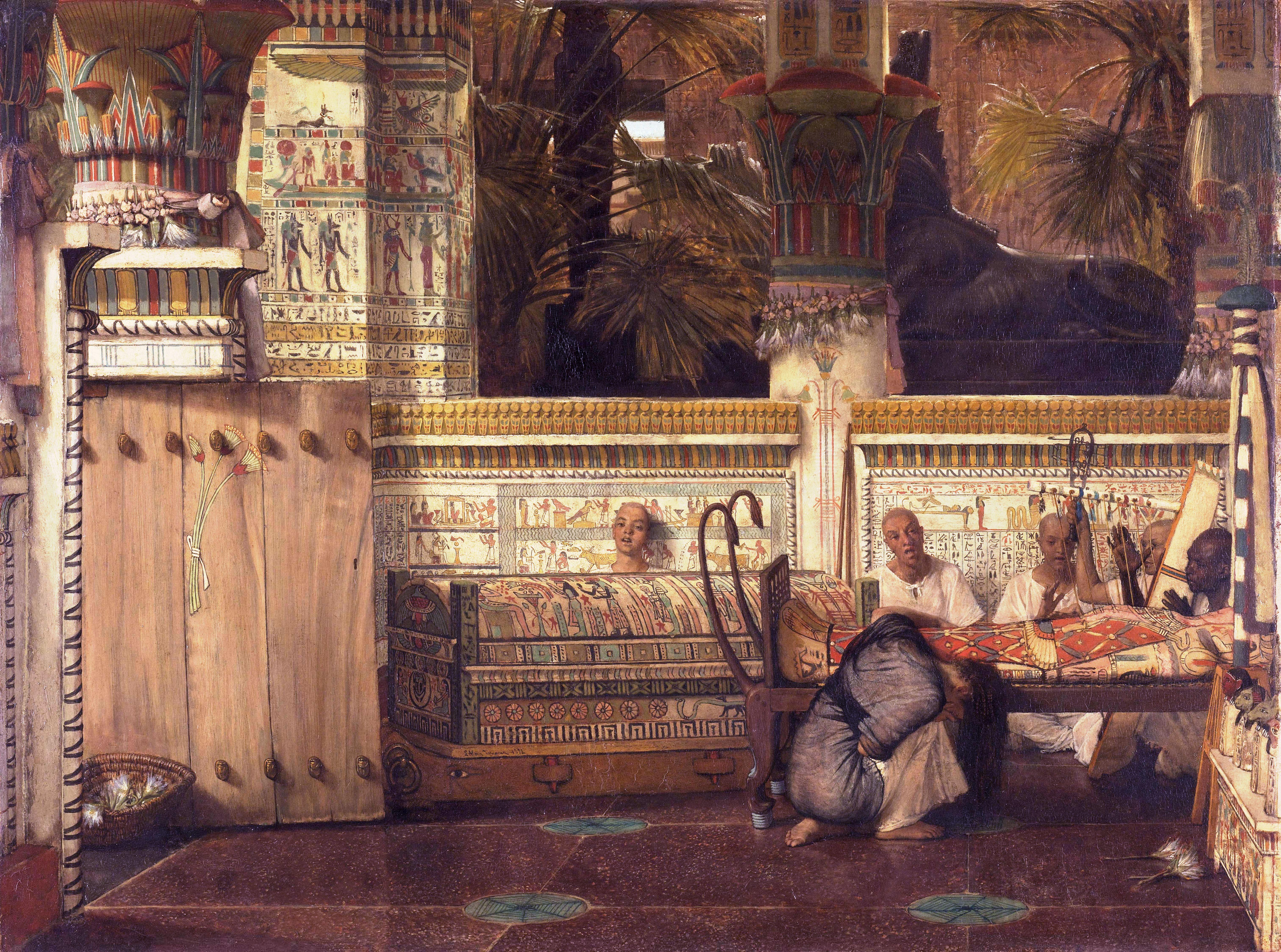 Ancient Egypt and the Bible | Sir Lawrence Alma-Tadema (Dutch 1836 ...