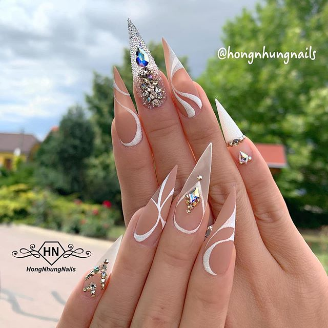"""Bui808 Nails on Instagram: """"Beautiful set by @hong"""