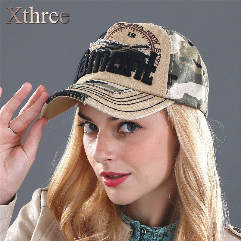 Xthree Camouflage Baseball Cap Snapback Hat For Men Cap Women Gorra Casquette Bone Swag Cap Wholesale In 2021 Casual Cap Man Cap Baseball Cap