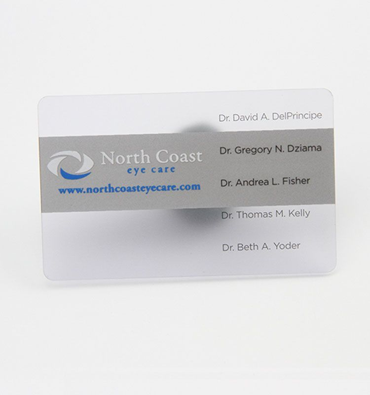 Custom Transparent Business Cards Clear Frosted Plastic PVC Card ...