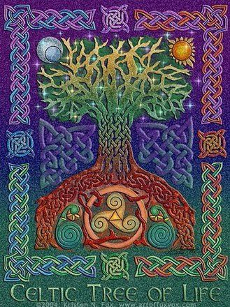 Arbol De La Tradicion Celta Celtic Tree Of Life Celtic Tree