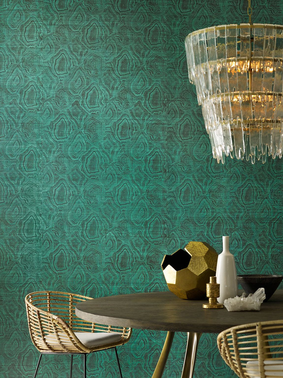 mahones wallpaper shop  Purchase 5937 Agate color name Malachite On Black Abaca from Phillip ...