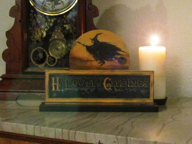 Vintage Looking Halloween Witch Table Sign Decoration! eBay - vintage halloween decorations ebay