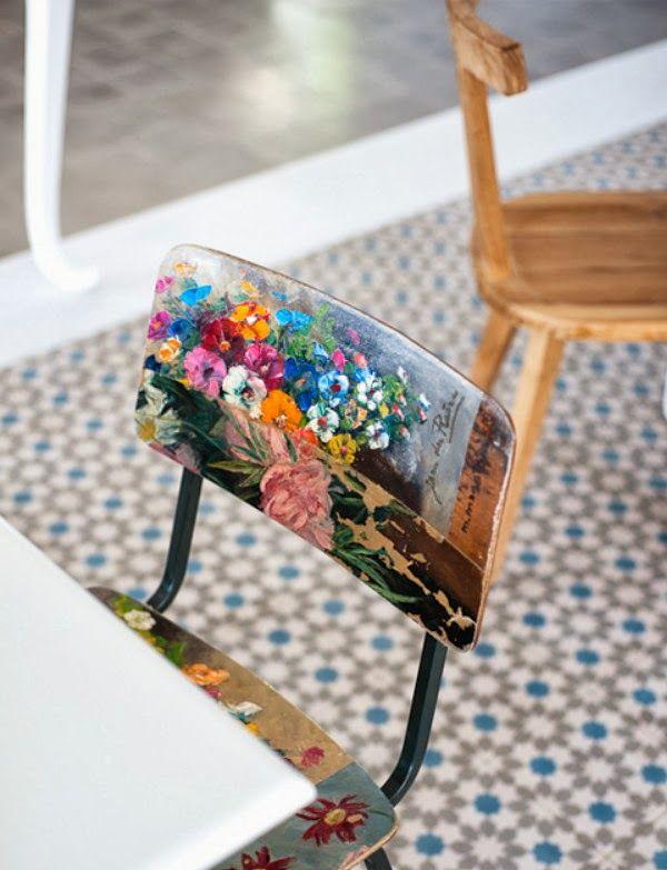 love this restyled chair ideen f r zu hause pinterest kammer wunder und stuhl. Black Bedroom Furniture Sets. Home Design Ideas